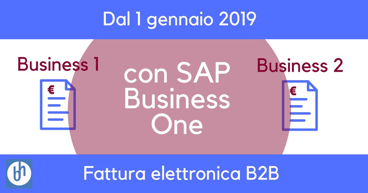 Sap Business One - fatturazione elettronica
